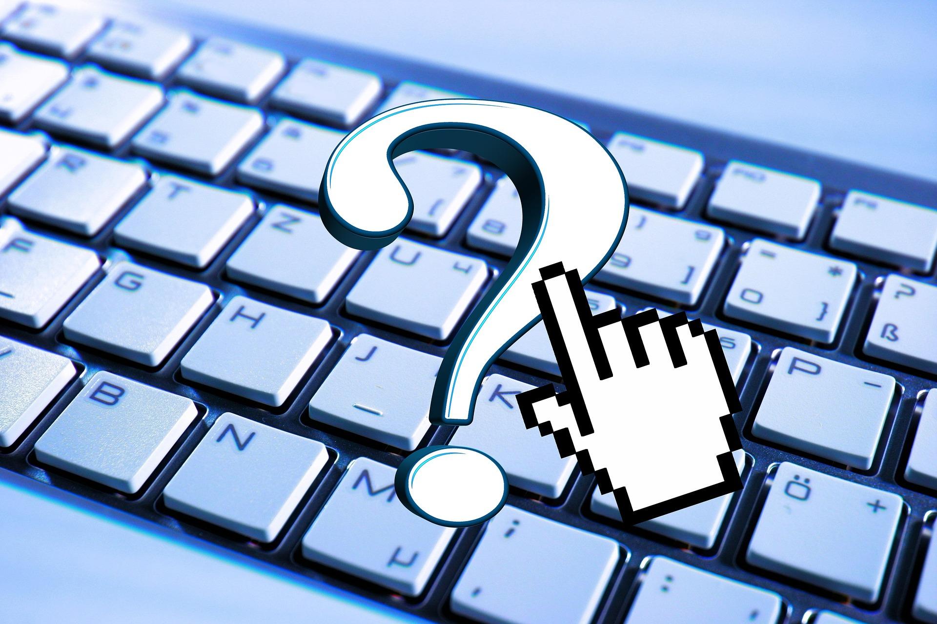 keyboard question mark quiz